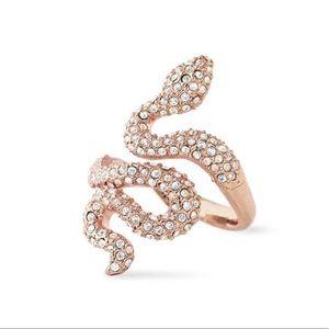 Stella & Dot Sidewinder Snake Rose Gold Ring